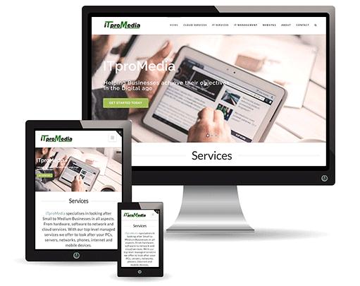 image of different displays for website design